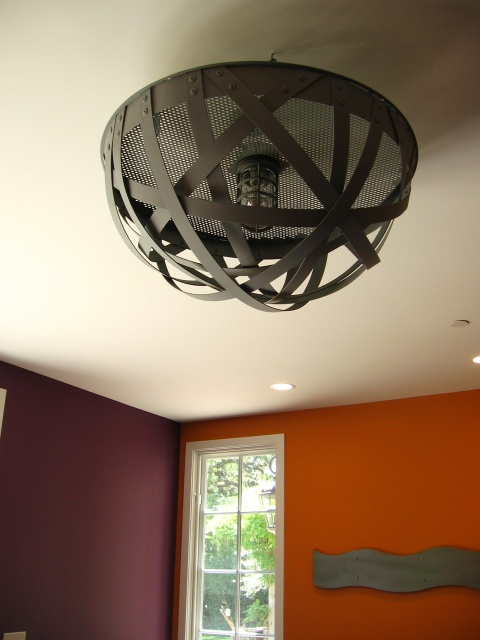 Igloo Semi Flush Mount Ceiling Urban Light Recycled Wine
